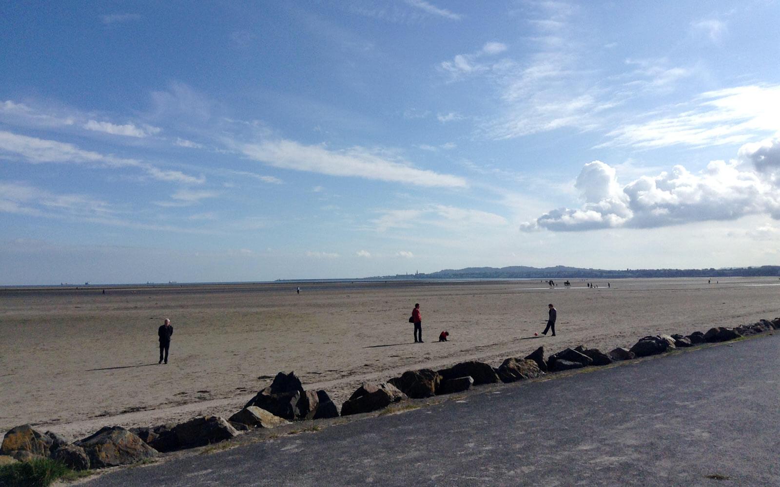 Strand bei Dublin, Irland