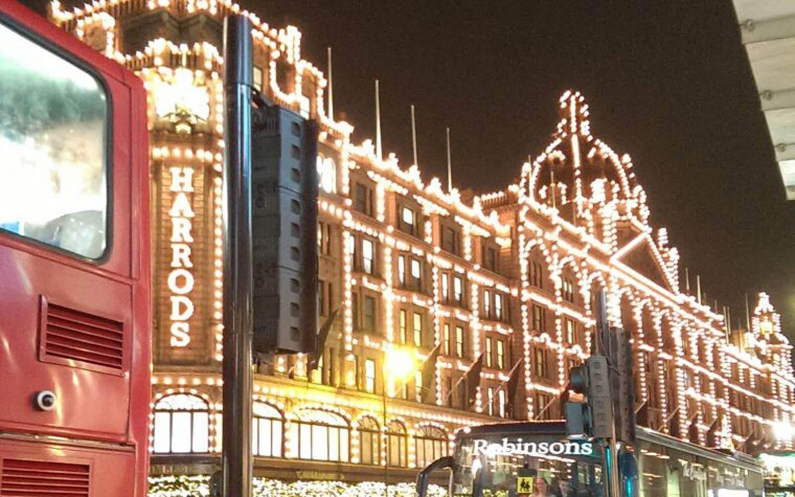 Harrods Weihnachtsbeleuchtung