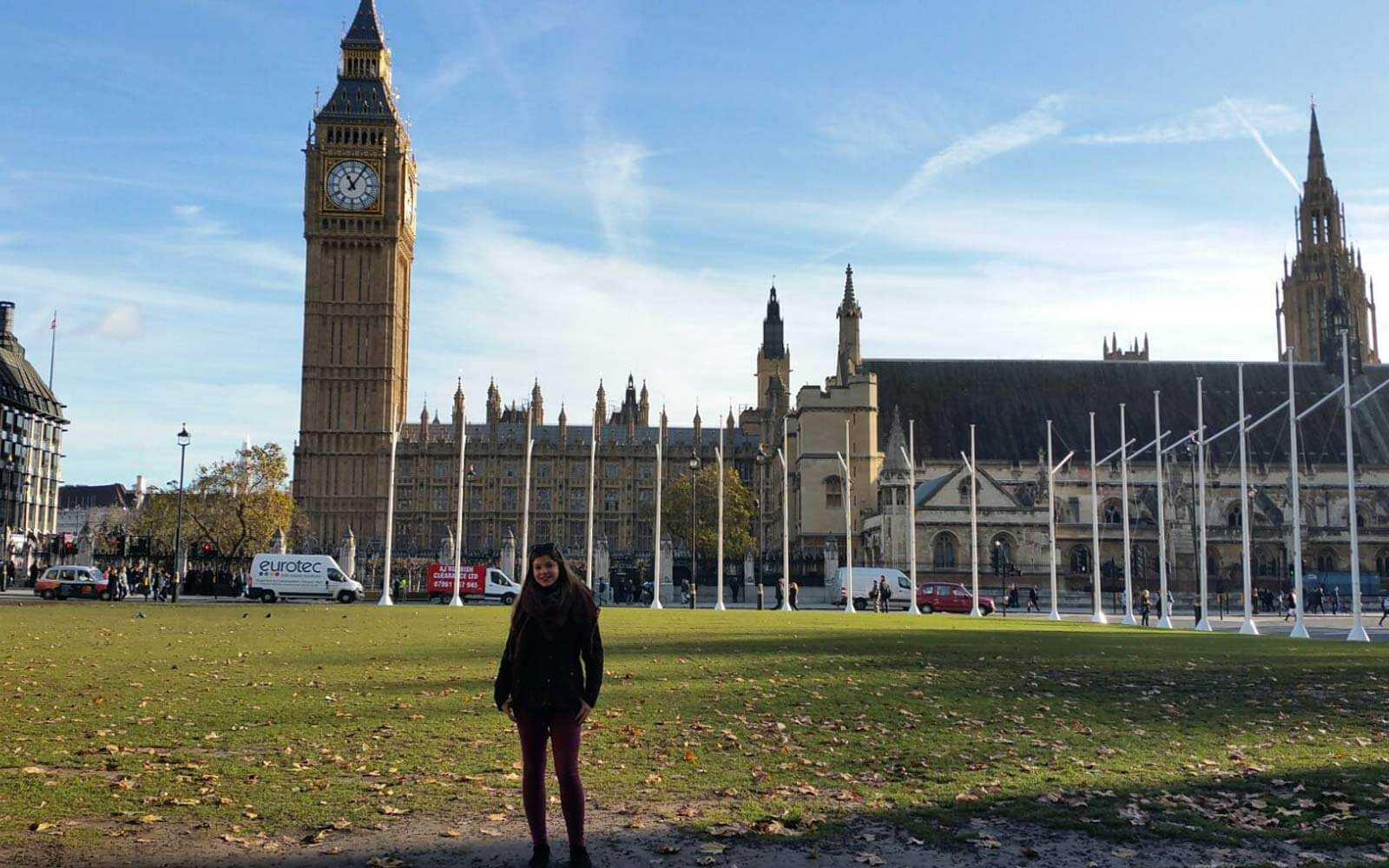 Wiebke vor dem Big Ben in London