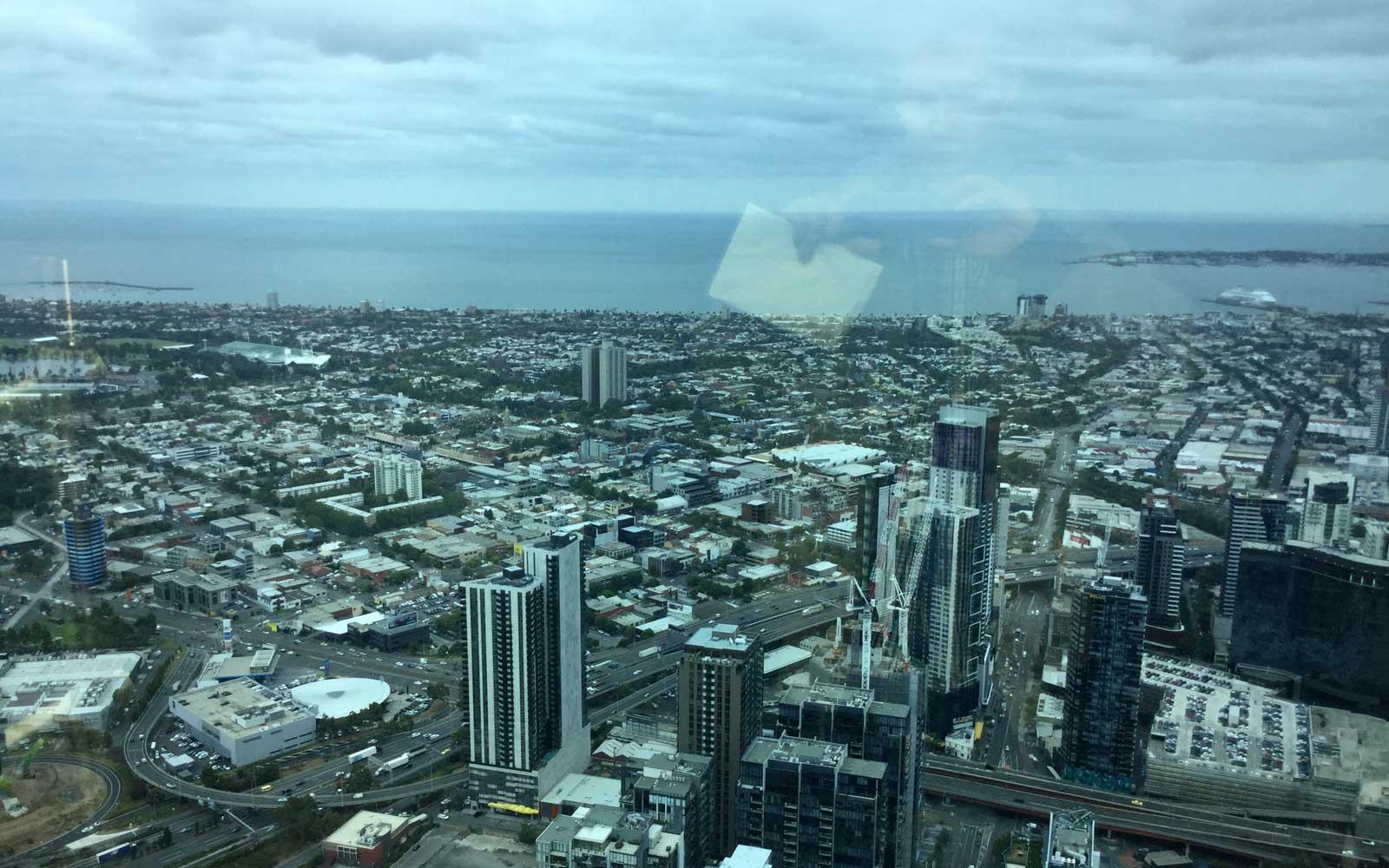 Ausblick vom Eureka Tower in Melbourne