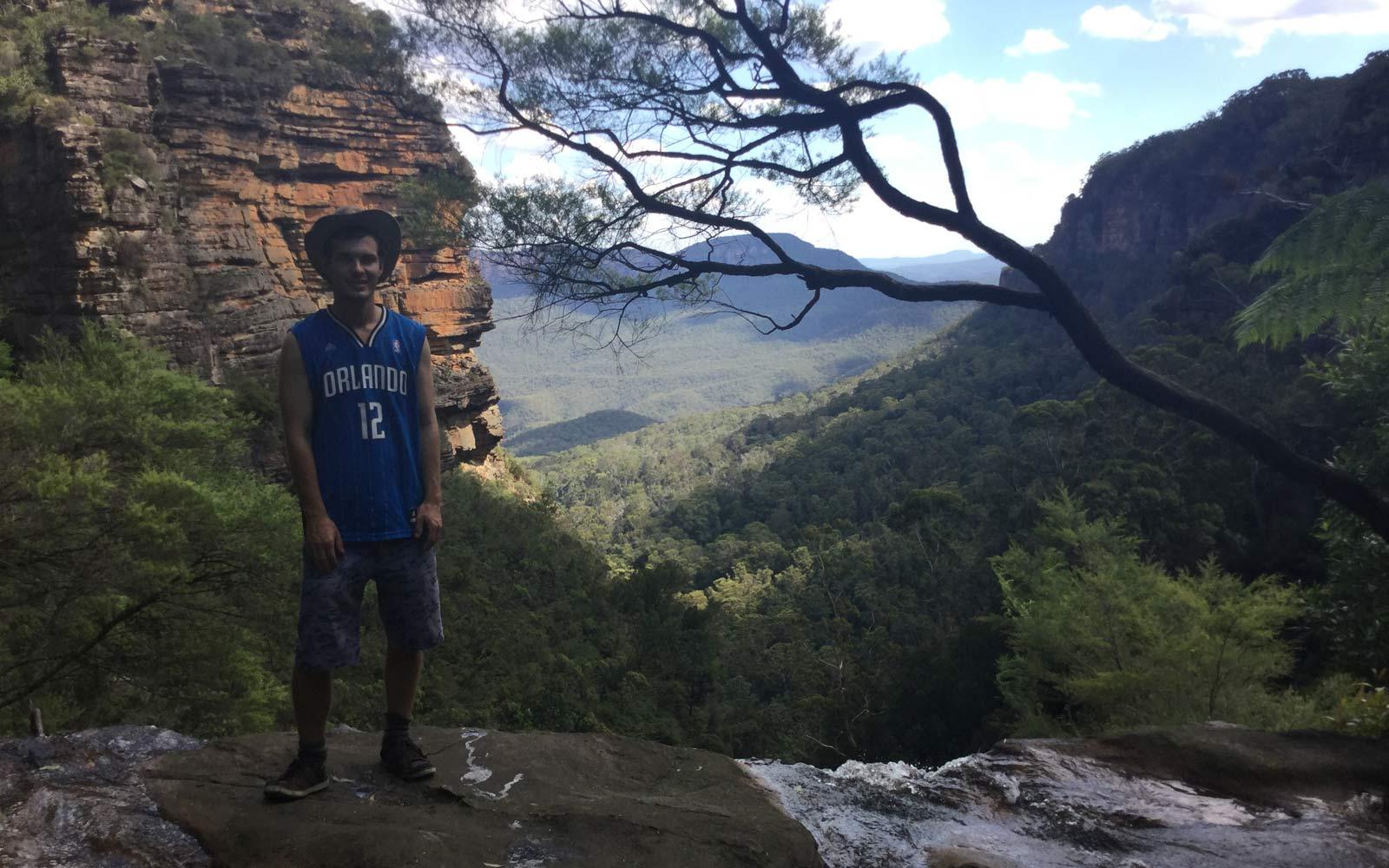 Justin in den Blue Mountains