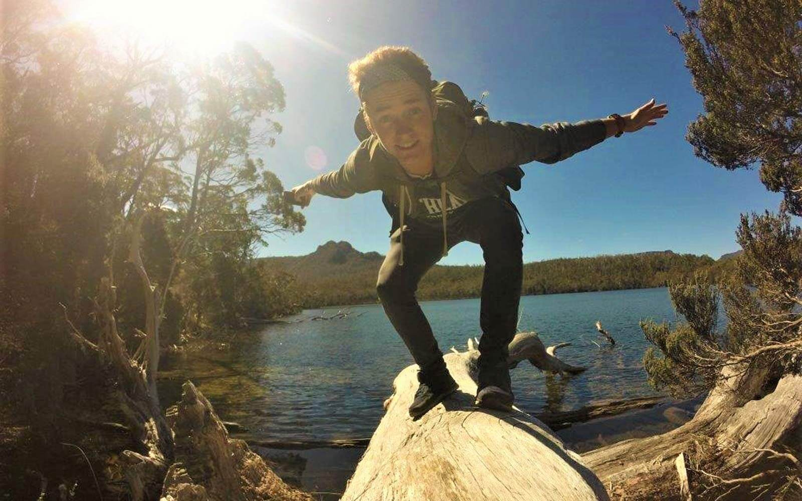Max auf einem Wanderausflug in Tasmanien