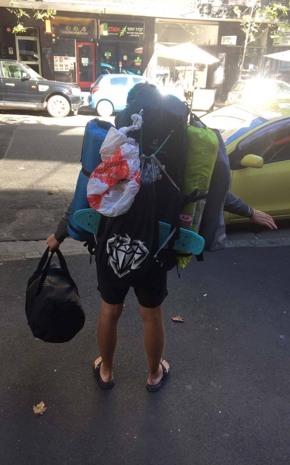 Mit Übergepäck zurück in Syndey