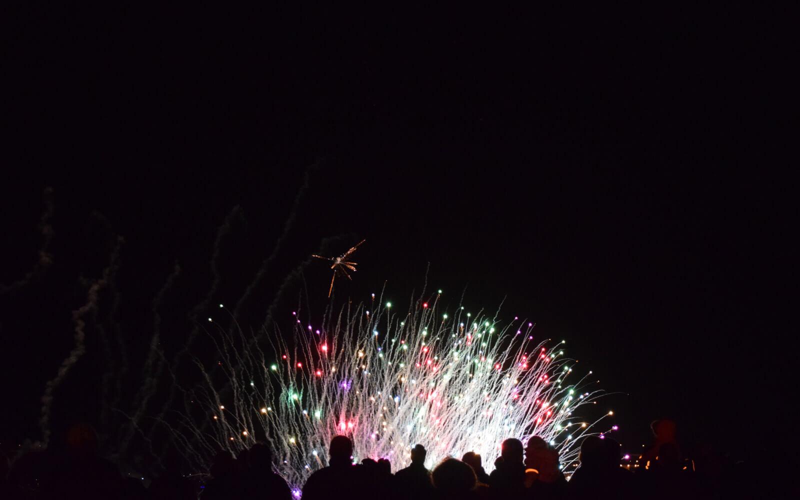 Feuerwerk an Silvester