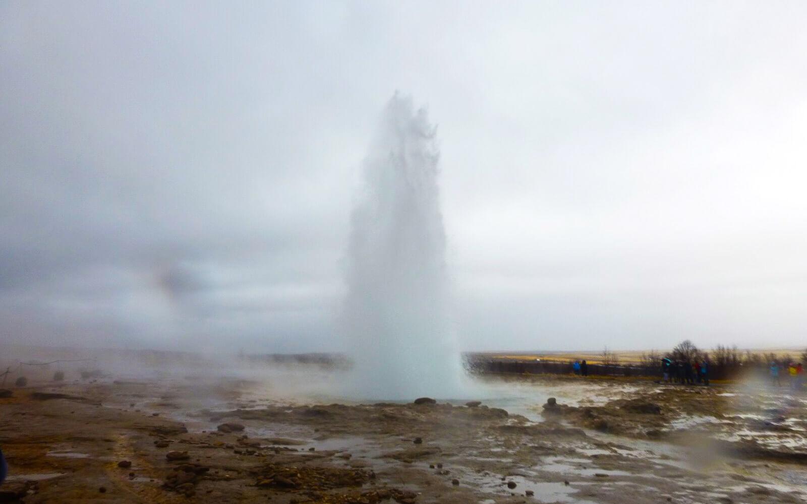 Hotspring an den Gulfosswasserfällen