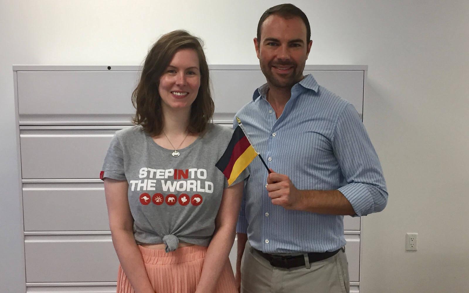 Katharina mit Michael von der Partnerorganisation