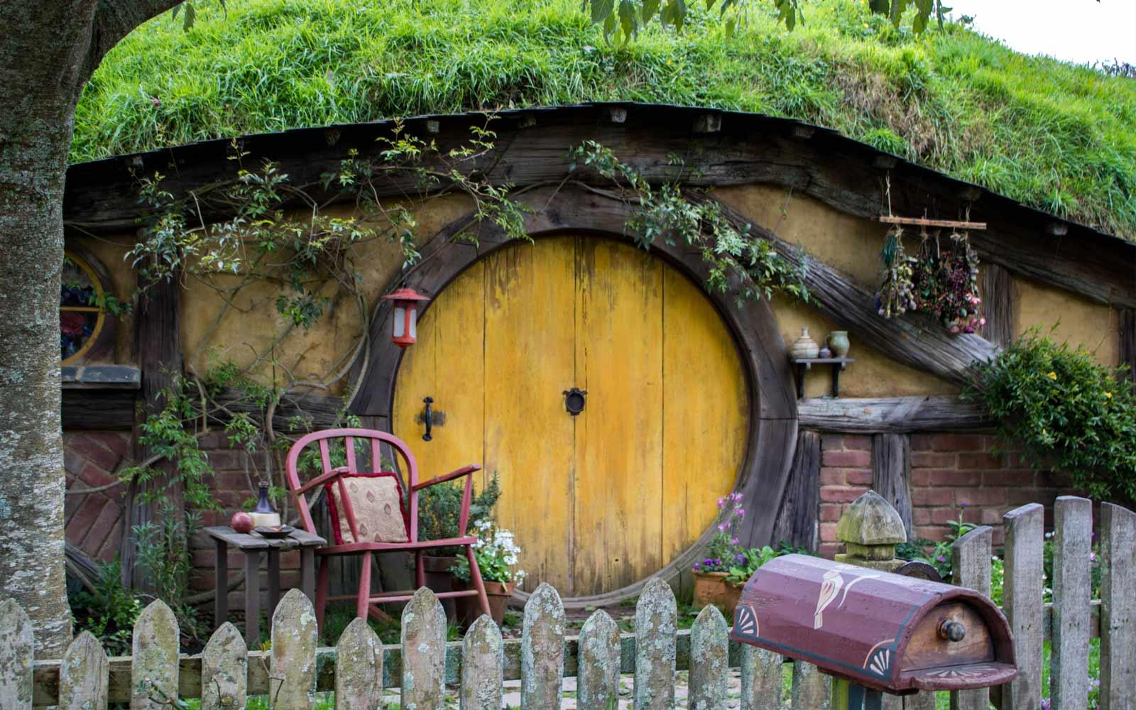 Hobbithöhle in Hobbiton