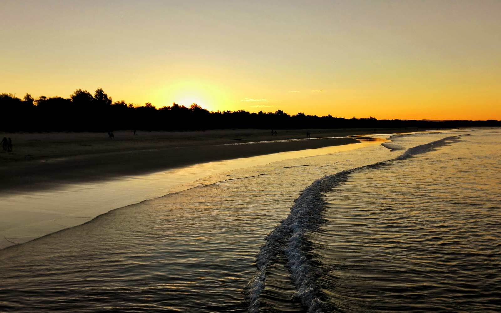 Sonnenunetrgang am Strand