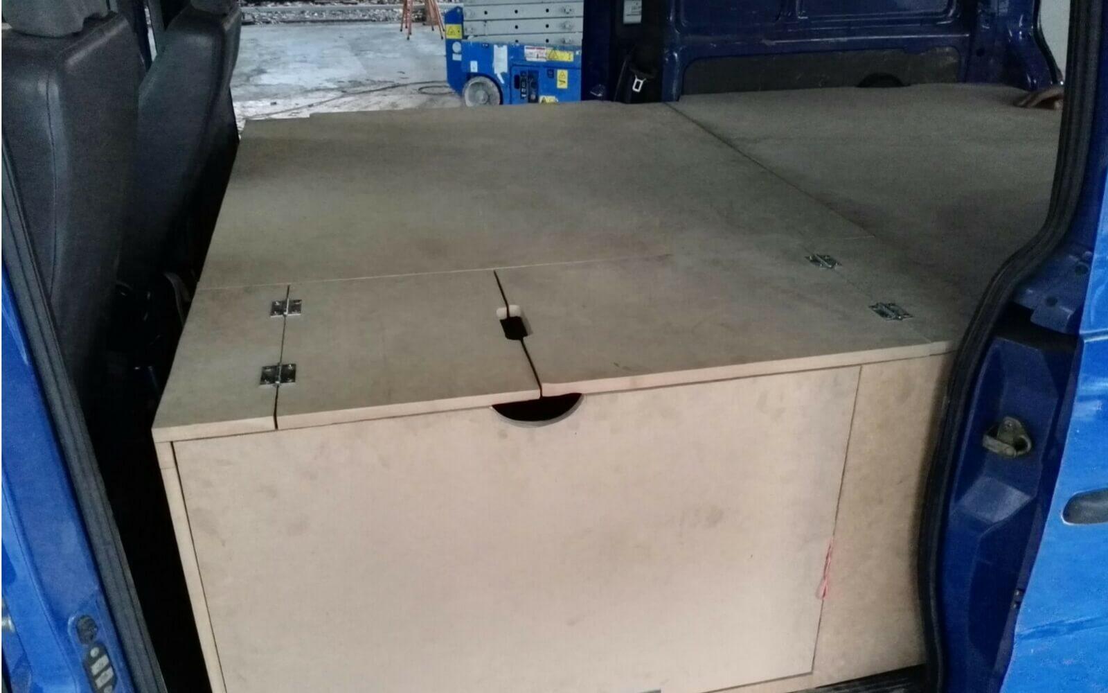 Das Innere des Vans