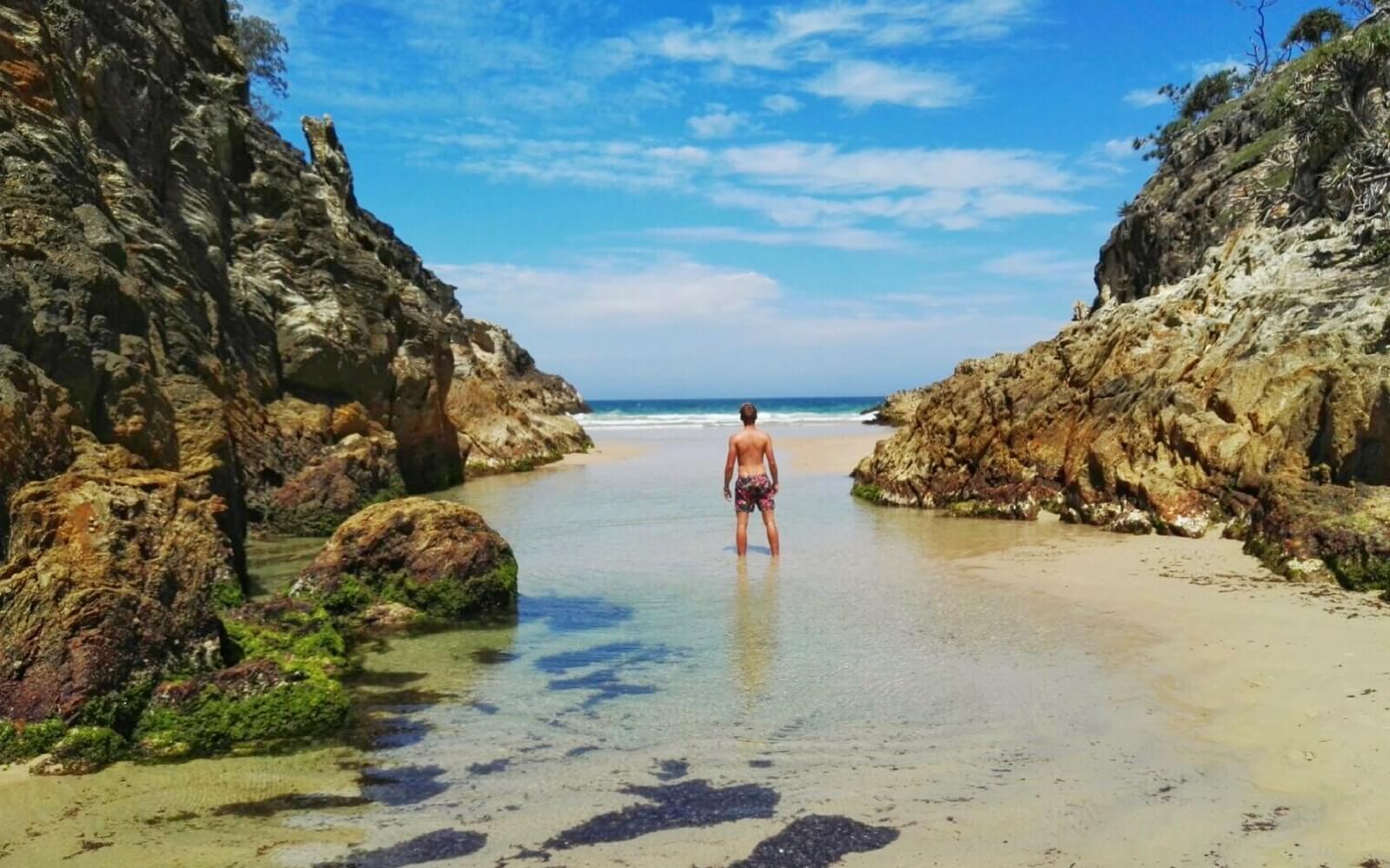 Freiheit genießen am Strand