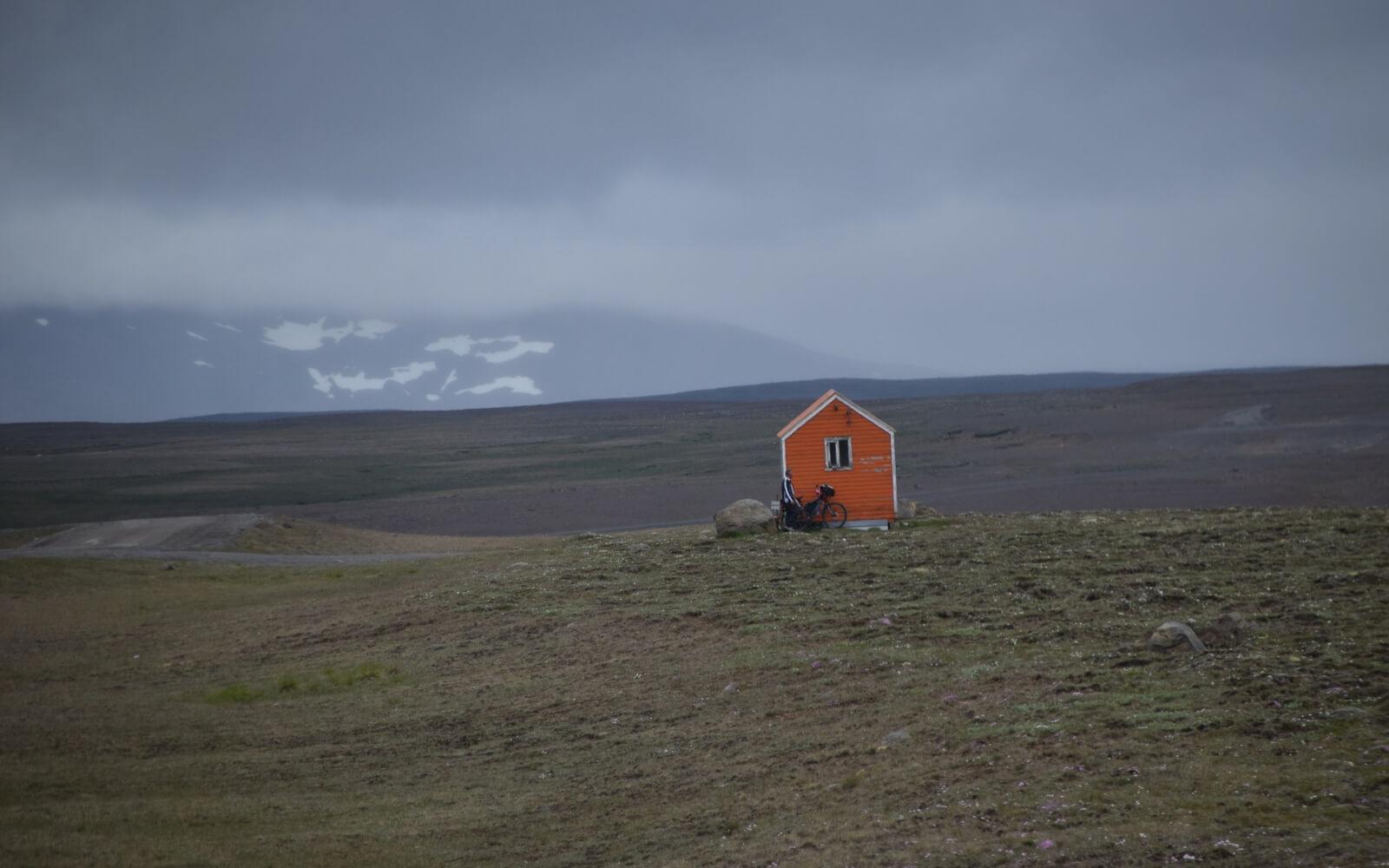 Schutzhütte im Hochland