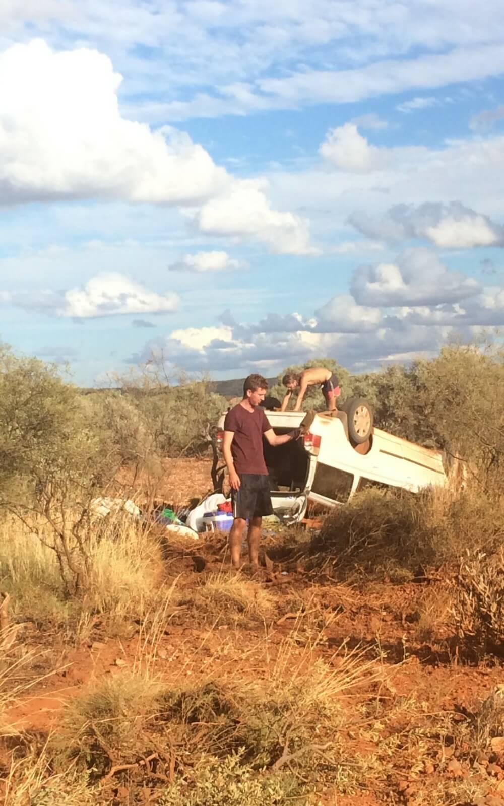 Autowrack in Wüste