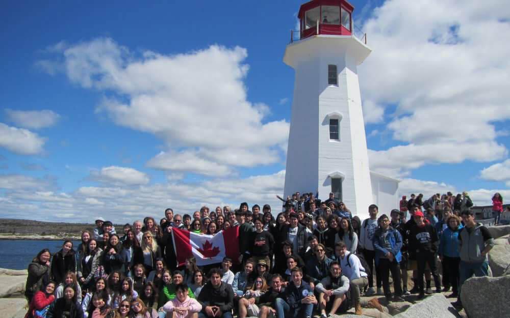 »Internationals«-Ausflug zum Wahrzeichen von Nova Scotia »Peggy's Cove«