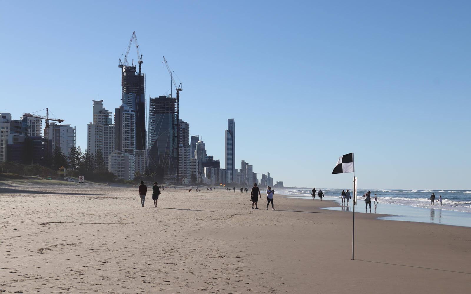Schüleraustausch Australien: Blick auf die Skyline der Gold Coast